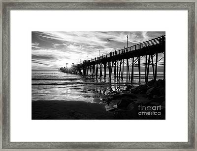 Stars And Swirls In Oceanside Framed Print