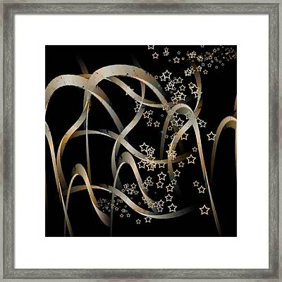 Stars And Waves Framed Print by Martine Affre Eisenlohr