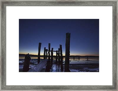 Stars At Sandy Point Sunrise  Framed Print