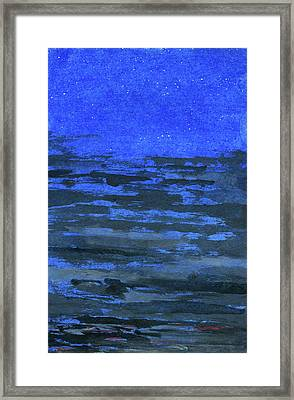 Stars In The Blue Heights Framed Print by R Kyllo