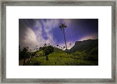 Stars In The Valley Framed Print