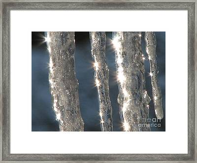 Stars On Ice Framed Print by Roxy Riou