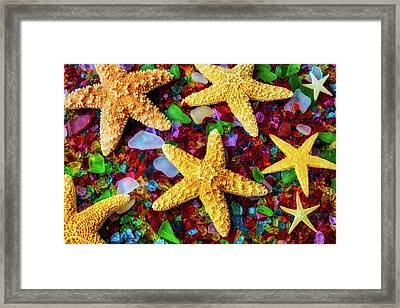 Stars On Sea Glass Framed Print by Garry Gay