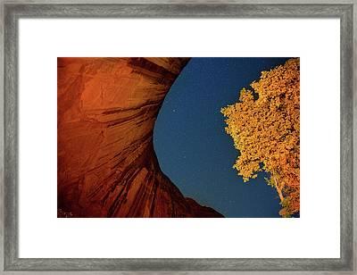 Stars Over Canyon Framed Print