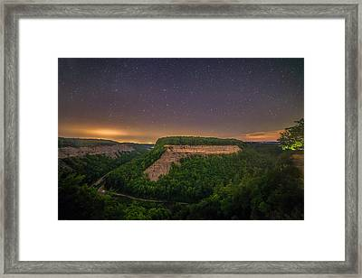 Framed Print featuring the photograph Stars Over Great Bend by Mark Papke