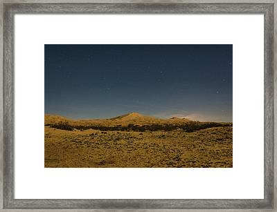 Stars Over Kelso Dunes Framed Print
