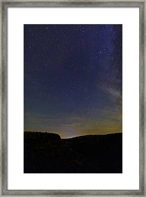 Stars Over Letchworth Framed Print by Rick Berk
