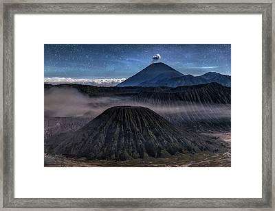 stars over Mount Bromo - Java Framed Print