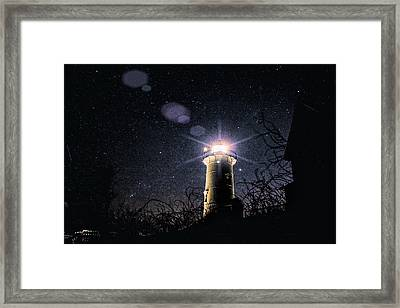 Stars Over Nobska Lighthouse Framed Print