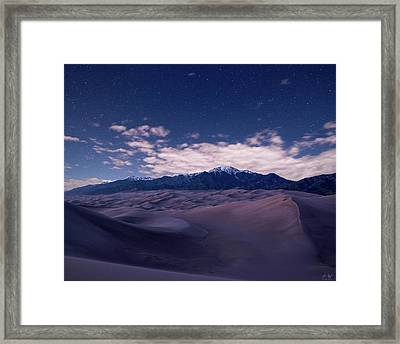 Stars Over The Great Sand Dunes Framed Print by Aaron Spong