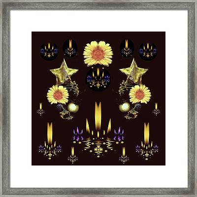 Stars Over The Sacred Sea Of Candles Framed Print
