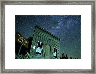 Stars Over Winfield Ghost Town Framed Print by Daniel Lowe