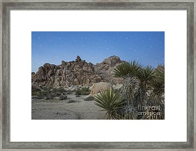 Stars Shining Over Indian Cove Framed Print by Juli Scalzi