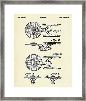 Starship Enterprise Star Trek-1981 Framed Print by Pablo Romero