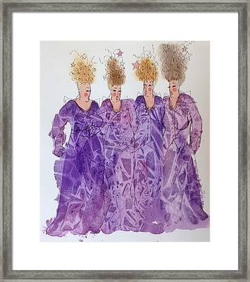 Starstruck Divas Framed Print by Marilyn Jacobson