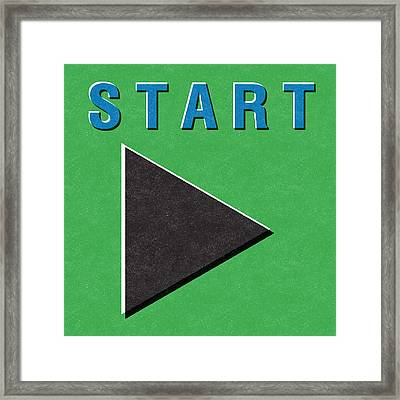 Start Button Framed Print by Linda Woods