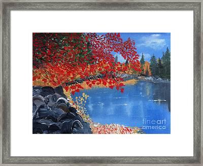 Start Of Fall Framed Print