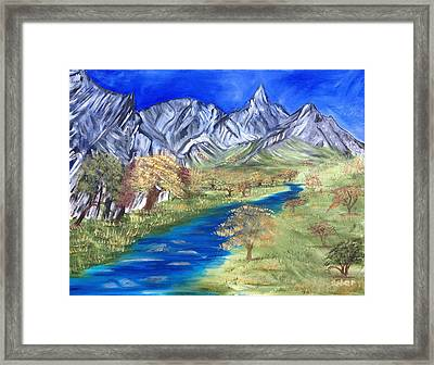 Start Of Fall Framed Print by Suzanne Surber