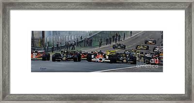Start Of Grand Prix Spain 1978 Framed Print by Artem Oleynik