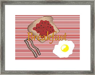 Start Your Day With Breakfast Framed Print