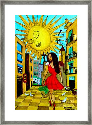 Framed Print featuring the painting Starting A New Day by Don Pedro De Gracia
