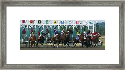 Starting Gate Framed Print
