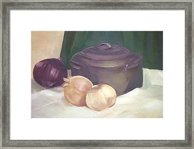Starting Stew Framed Print by Jan Cline-Zimmerman