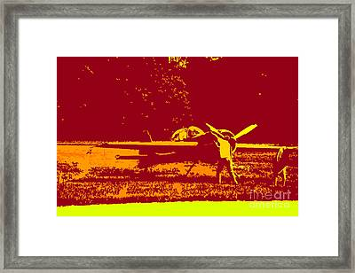 Starting Up A Plane 2 Framed Print by Chris  Taggart