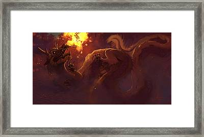 Startle Framed Print by Jaimie Whitbread