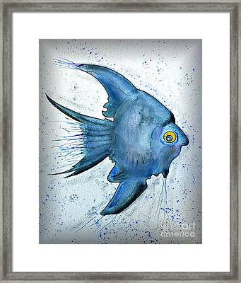 Startled Fish Framed Print