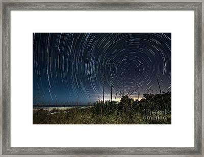 Startrails Over Boca Grande Framed Print