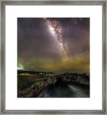 Framed Print featuring the photograph stary night in Broken beach by Pradeep Raja Prints
