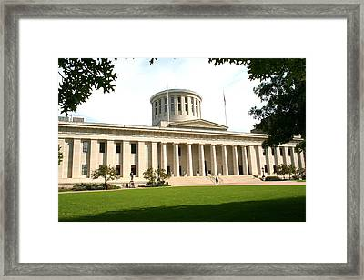 State Capitol Of Ohio Framed Print by Laurel Talabere