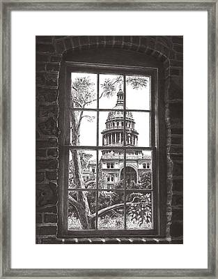 State Capitol Of Texas Framed Print