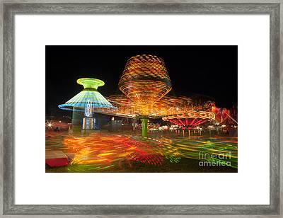 State Fair Rides At Night I Framed Print