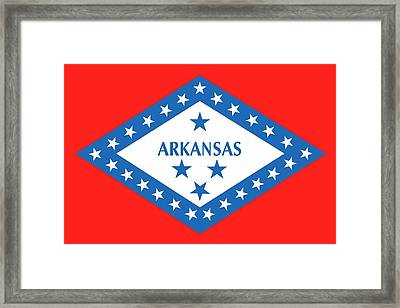 State Flag Of Arkansas Framed Print by American School