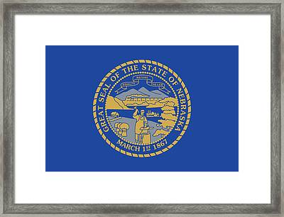 State Flag Of Nebraska Framed Print by American School