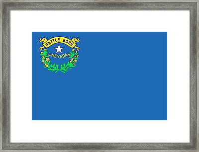 State Flag Of Nevada Framed Print by American School