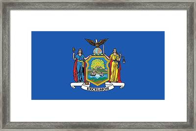 State Flag Of New York Framed Print by American School