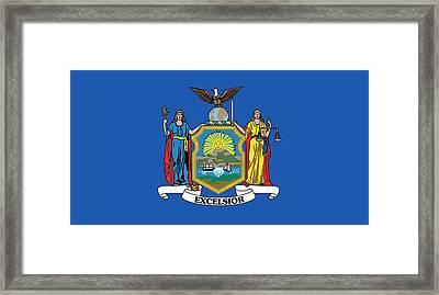 State Flag Of New York Framed Print