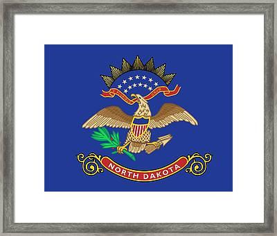State Flag Of North Dakota Framed Print