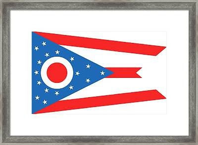 State Flag Of Ohio Framed Print by American School