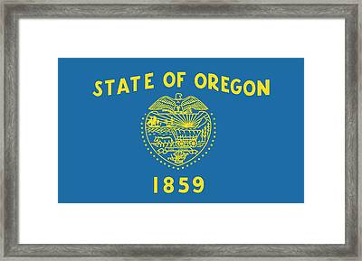 State Flag Of Oregon Framed Print by American School