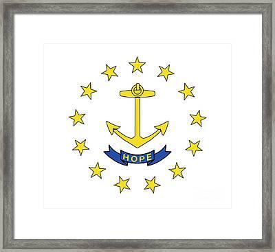 State Flag Of Rhode Island Framed Print by American School