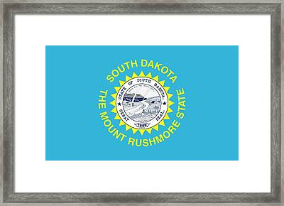 State Flag Of South Dakota Framed Print by American School