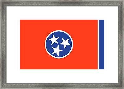 State Flag Of Tennessee Framed Print by American School