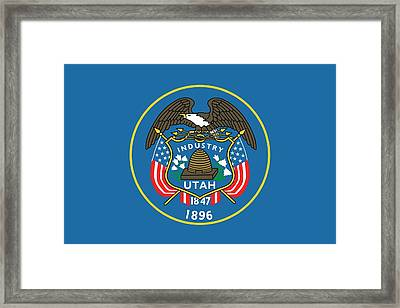 State Flag Of Utah Framed Print by American School