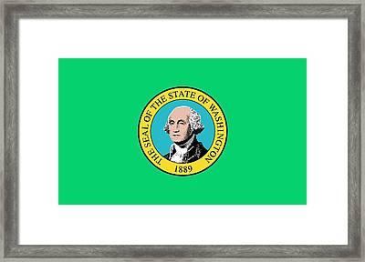 State Flag Of Washington Framed Print