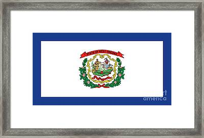 State Flag Of West Virginia Framed Print by American School