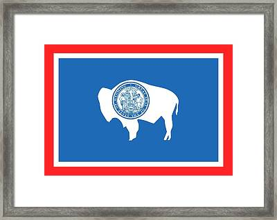 State Flag Of Wyoming Framed Print by American School